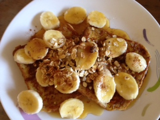 27th french toast with breakfast granola